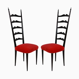 Hall Chairs by Paolo Buffa, 1940s, Set of 2