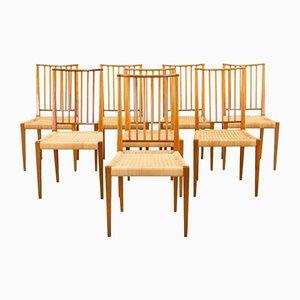 Schwedische 970 Stühle von Josef Frank für Svenskt Tenn, 1960er, 8er Set