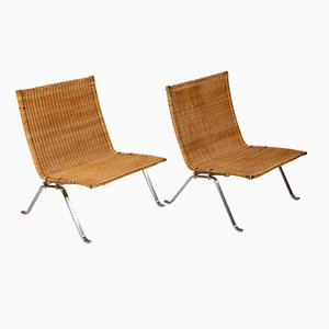 Vintage PK 22 Chairs by Poul Kjaerholm for E. Kold Christensen, Set of 2