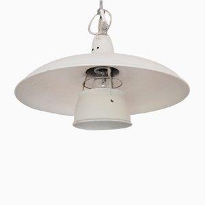 Weiße Dänische Mid-Century Lampe von Louis Poulsen