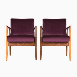 Vintage Lounge Chairs by Jens Risom, Set of 2
