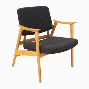 Swedish Chair with Height Adjustable Seat, 1950s