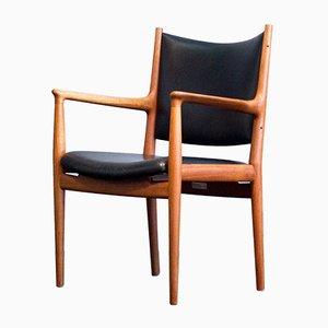 Vintage JH 513 Chair in Teak and Leather by Hans J. Wegner for Johannes Hansen