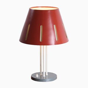 Large Sun Series Red Table Lamp by H. Th. J. A. Busquet for Hala