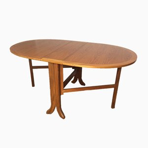 Mid-Century Oval Fold Up Teak Dining Table from Nathan