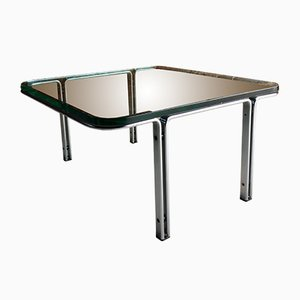 Model T111 Square Steel & Glass Coffee Table by Horst Brüning for Kill International, 1960s
