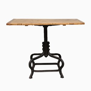 Small Table with Cast Iron Foot, 1920s