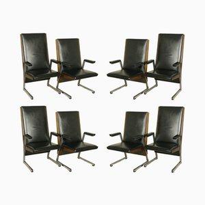 Vintage Sessel mit Armlehnen aus Gebeizter Buche, 8er Set