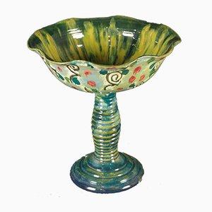 Centrotavola vintage grande in ceramica di La Salamandra, anni '20