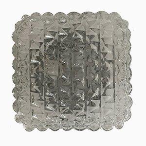 Vintage Square Glass Sconce, 1960s