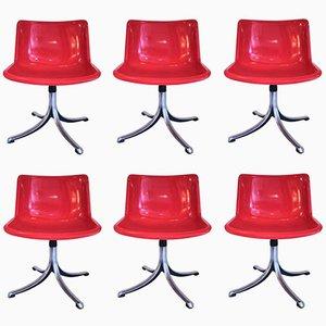 Italian Chairs by Osvaldo Borsani for Tecno, 1970s, Set of 6