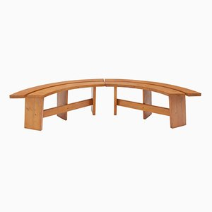 Curved Benches by Pierre Chapo, 1960s, Set of 4