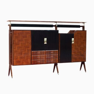 Mid-Century Cupboard with Dry Bar by Vittorio Dassi for Dassi & Figli