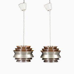Vintage Trava Suspension Lamps by Carl Thore for Granhaga, Set of 2