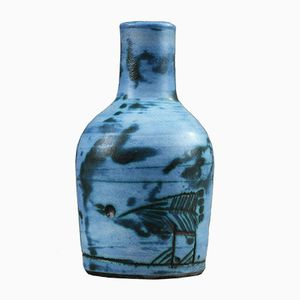 Small Blue Ceramic Vase by Jacques Blin, 1950s