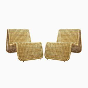 Geschwungene schwedische Stühle von Ikea, 1970er, 2er Set