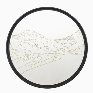 Weisshorn Golden Landscapes Tapestry with Gold Thread by Philippe Cramer