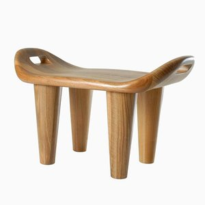 Baar Stool in Walnut by Philippe Cramer, 2001
