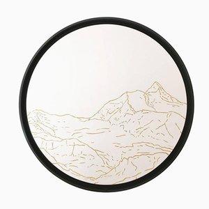 Jungfrau Golden Landscapes Wandteppich mit Goldfaden von Philippe Cramer, 2012