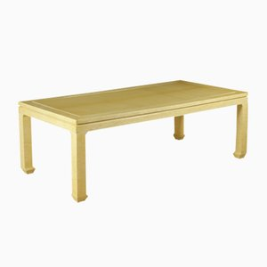 Vintage Table in Wood and Imitation Ivory