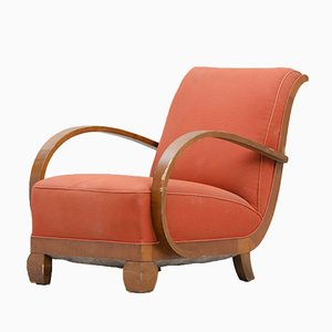 Art Deco Armchair in Walnut
