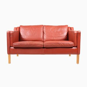 Danish Two-Seater Leather Sofa from Stouby, 1980s