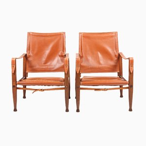 Safari Chairs by Kaare Klint for Rud Rasmussen, 1960s, Set of 2