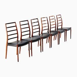 Modell 82 Stühle von Niels Moller für J.L. Moller Mobelfabrik, 1970er, 6er Set