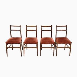 Mid-Century Leggera Stühle von Gio Ponti für Cassina, 4er Set