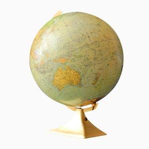 Großer Beleuchteter Deutscher Mid-Century Glas Globus von JRO