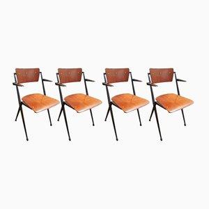 Pyramid Stühle von Wim Rietveld für Ahrend de Cirkel, 1964, 4er Set