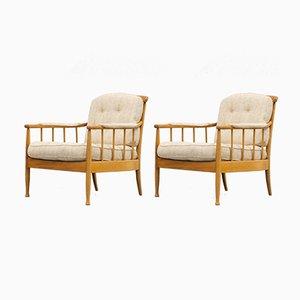 Scandinavian Vintage Skrindan Easy Chairs by Kerstin Hörlin-Holmquist for OPE Möbler, Set of 2