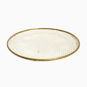 Round French Serving Tray, 1950s