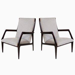 Italienische Armlehnstühle, 1960er, 2er Set