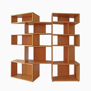 Italian Wide Beech Bookcase by Franco Poli for Bernini, Italie, 1995