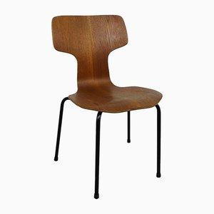 Silla infantil Hammer de teca de Arne Jacobsen para Fritz Hansen, 1968