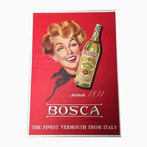 Poster Bosca Vermouth de Ponzetto, 1950s