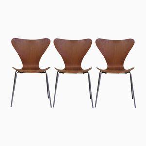 Vintage Danish Chairs by Arne Jacobsen for Fritz Hansen, 1960s, Set of 3