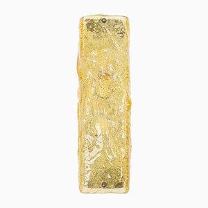 Applique in vetro di Murano color ambra di Limburg, anni '60