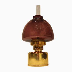 Vintage Purple Kerosene or Oil Lamp from Hans-Agne Jakobsson