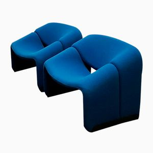 F598 Groovy Lounge Chairs by Pierre Paulin for Artifort, 1970s, Set of 2