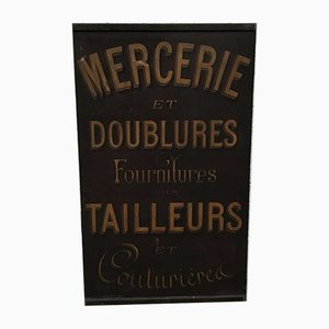 Metal Sheet Mercerie Tailor's Advertisement, 1923