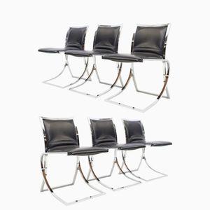 Esszimmerstühle von Maison Jansen, 1970er, 6er Set