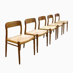 75 Dining Chairs By Niels O. Møller For J.L. Møller Møbelfabrik,