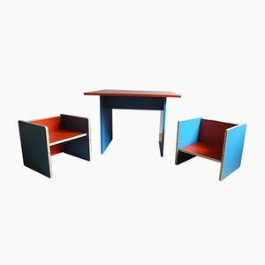 Juego de mesa y sillas infanfiles, años 70
