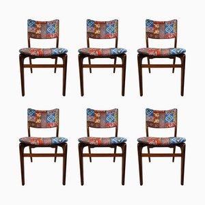 Vintage Stühle von Louis Van Teeffelen für WéBé, 6er Set