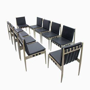 Leatherette SE 121 Chairs by Egon Eiermann for Wilde & Spieth, 1965, Set of 10