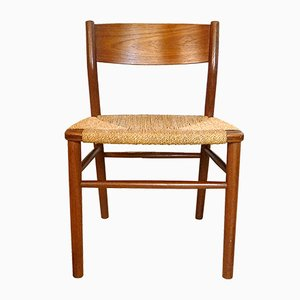 Danish 157 Teak Chair by Børge Mogensen for Søborg Møbler, 1950s