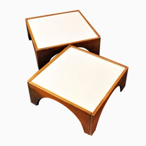 Model Gruppo Means Tables by Gae Aulenti for Poltronova, 1968, Set of 2