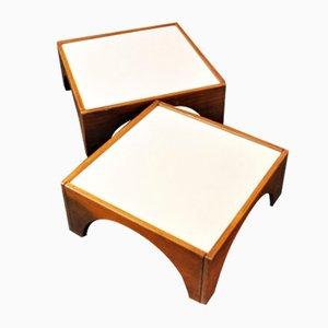 Modell Gruppo Means Tische von Gae Aulenti für Poltronova, 1968, 2er Set